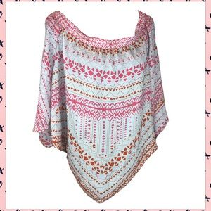 BCBGMaxAzria Off The Shoulder Poncho Shirt